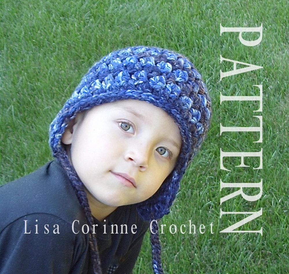 Earflap Hat, Crochet Earflap Hat PATTERN, Winter Hat With Earflaps ...