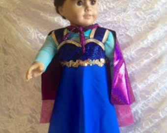 Adorable!!! Amer. Girl Doll outfit!  Princess Ana w/cape