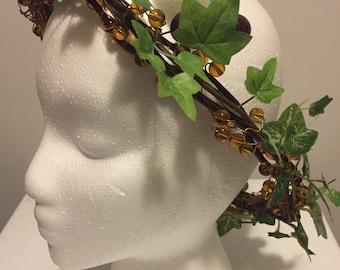 Fairy Headpiece, Fairy Crown, Woodland Fairy Crown, Costume, Festival Headpiece, Faire Headpiece, Faire Crown, Fairy Accessory, Crown