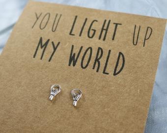 Lightbulb Sterling Silver Earrings