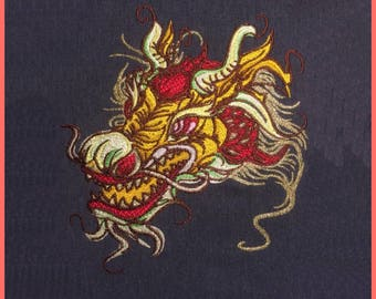 Embroidery file Dragon in 6 sizes, embroidery, dragon, embroidery pattern, embroidery machine, stick file