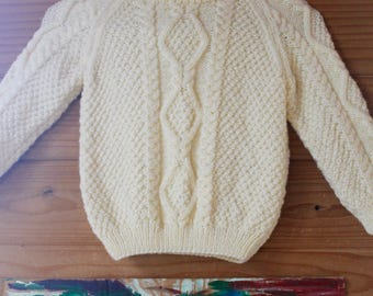 Vintage 80's Cable Knit Sweater CHILDREN'S