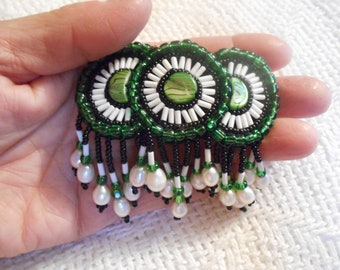 Handmade Beaded Barrette