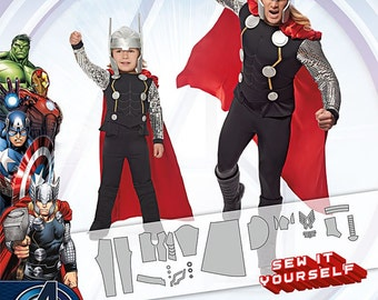 OUT of PRINT Simplicity Pattern 1038 Boy's and Men's Thor Costumes