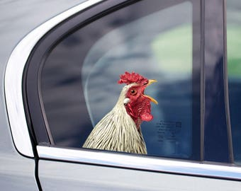 STICKER, chicken  window sticker, car sticker, chicken car decal, funny sticker
