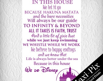 Disney Quotes A4 Print, Disney Castle, Glossy or Matte Thick Card, Quick Dispatch
