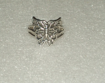 Sterling Silver Butterfly Ring- size 6 1/2