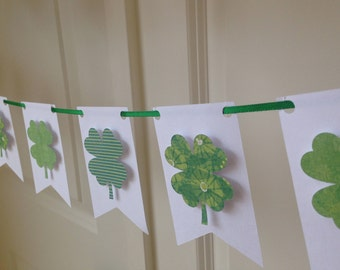 Mini St. Patrick's day shamrock banner