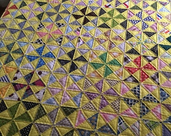 no. 5013 yellow pinwheel quilt