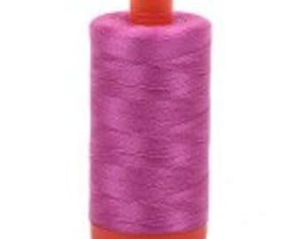 Light Magenta Aurifil Mako Cotton Thread Color 2588, 50 wt, 1300m, 1 spool purple fuchsia pink neon purple