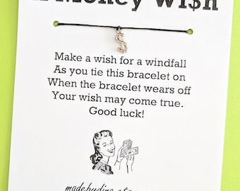A Money Wish - LIMITED EDITION - Wish Bracelet Party Favor Custom Made for You