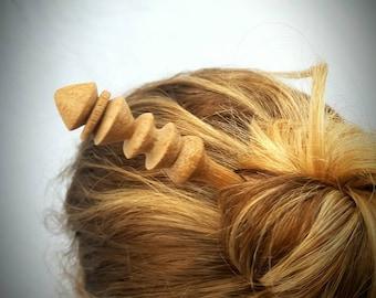 Wooden hair stick