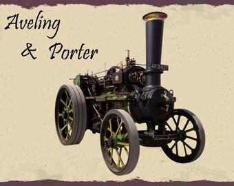 Aveling & Porter, Steam Engine , Metal Sign,  No.571