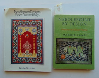 2 Needlepoint Books - Oriental Rugs and Chinese Themes