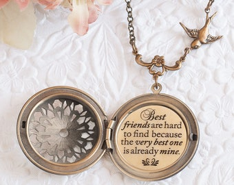 Best Friend Gift BFF Necklace Best friends are hard to find because the very best one is already mine Best Friend Necklace BFF Gifts