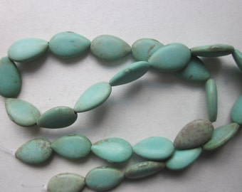 Magnesite Teardrop Beads 16x10mm 9 Beads