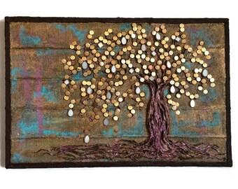 Mixed Assemblage / Wall Art / Money Tree