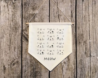 expressions of cats meow cat banner
