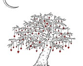 The Tree at the Edge of The World. - print of original heart drawing by seth