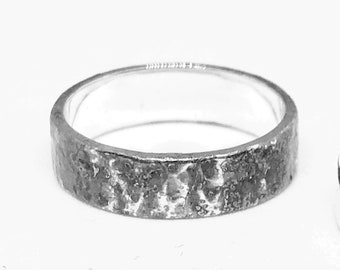 Elegant Silver Dawn, Dusk and Midnight Band Rings
