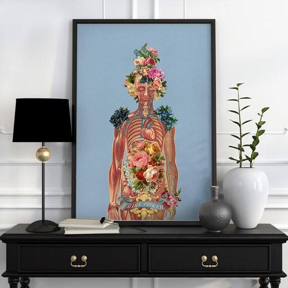 You are beautiful -Body Girl Woman gift Feminist art Wall decor art, Anatomical Best friend gift, wall art, SKA115WA3