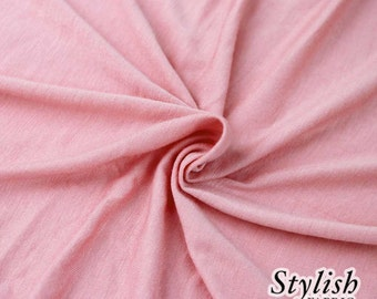 Lt Pink Light-weight 160 GSM Rayon Spandex Jersey Knit Fabric by the Yard - 1 Yard Style 13390
