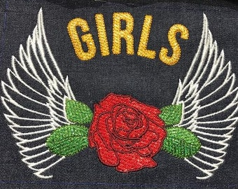 embroidery machine, wings and pink pattern