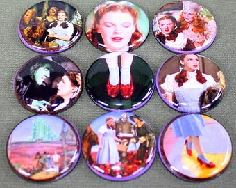 The Wizard Of Oz Magnets - One Inch