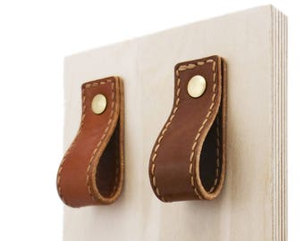 James Stitched Leather Pulls