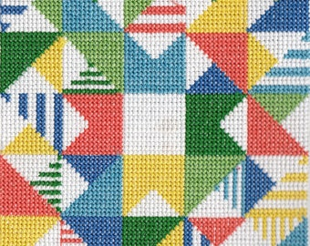 Machine Crossstitch Geometric square