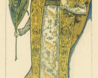 Art Nouveau poster - Gismonda -  by Alphonse Mucha - Art nouveau print, P011