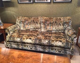 KRAVET COUTURE Lee JOFA Ornate Velvet Fabric 10 Yards Olive Multi