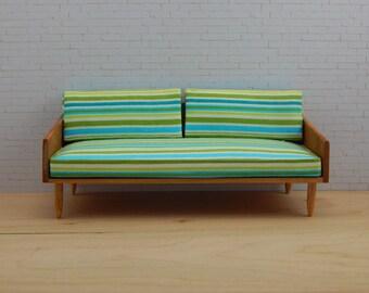 1:12 Scale Mid Century Modern Sofa