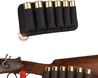Hunting Leather Cartridge Holder, Cartridge Holder Belt Case, Shell Cartridge Wallet Pouch Shotgun Rifle