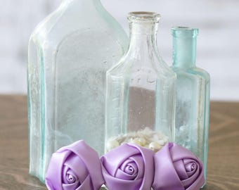 Lilac Roses Hair Clip - Roses Wedding Hair Clip - French Barrette - Floral Hair Clip - Barrette - Satin Roses Barrette - Lilac Roses Clip