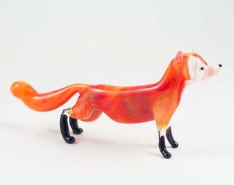 Glass Fox  Hand-Blown Figurine