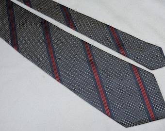 Lanvin Paris Silk Men's Tie Stripped Pattern