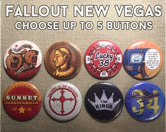 New Vegas Individual Buttons- Pick up to 5!