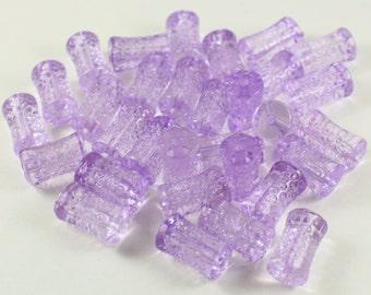 Light Purple Acrylic Tube Beads, 18mm Long Barrel Column Shape