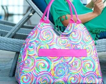 Beach Bag/ Monogrammed Beach Bag/ Personalized Bag/ Monogrammed Bag