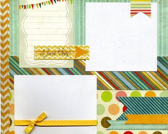 12x12 Premade Scrapbook Page - I Love This