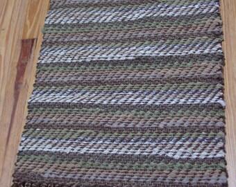 """Handwoven Rag Rug, """"Subtle Stripes"""""""