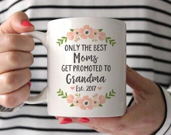 Grandma Gift Pregnancy Announcement New Grandma Mug Grandma Pregnancy Announcement Grandparents Pregnancy Reveal Grandma Coffee Mug Pink