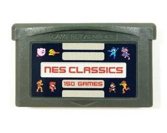 150-in-1 NES Classics for GBA Gameboy Advance multicart Cartridge Mario Zelda Megaman Castlevania Final Fantasy Collection - Free Shipping!