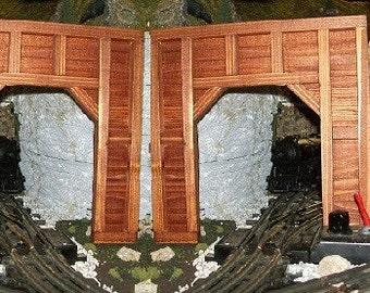 Model Railroad O Gauge Timber Frame SINGLE TRACK Tunnel Portals - Set of 2