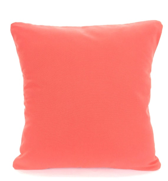 Coral Sofa Pillow: Solid Coral Pillow Covers Decorative Throw Pillow Cushion