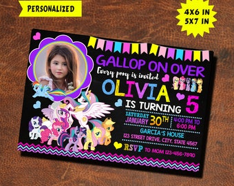 My Little Pony Invitation / My Little Pony Birthday / My Little Pony Party / My Little Pony Invite / My Little Pony Birthday Invitation
