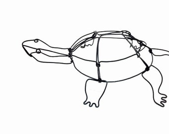 Turtle Wire Sculpture, Wire Art, Minimal Wire Sculpture, 587580238