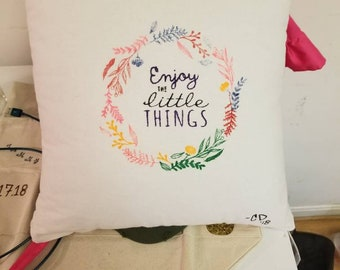Hand decorated pillows