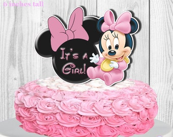 Baby Minnie Mouse Cake Topper PRINTABLE You Print